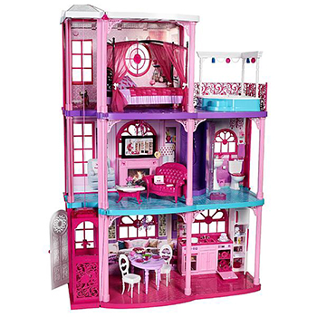 Barbie furnished 3 story elevator dream house 50 play for 2 story elevator
